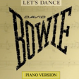 DAVID BOWIE  Let's dance (piano version) (cover mashup by DoM)