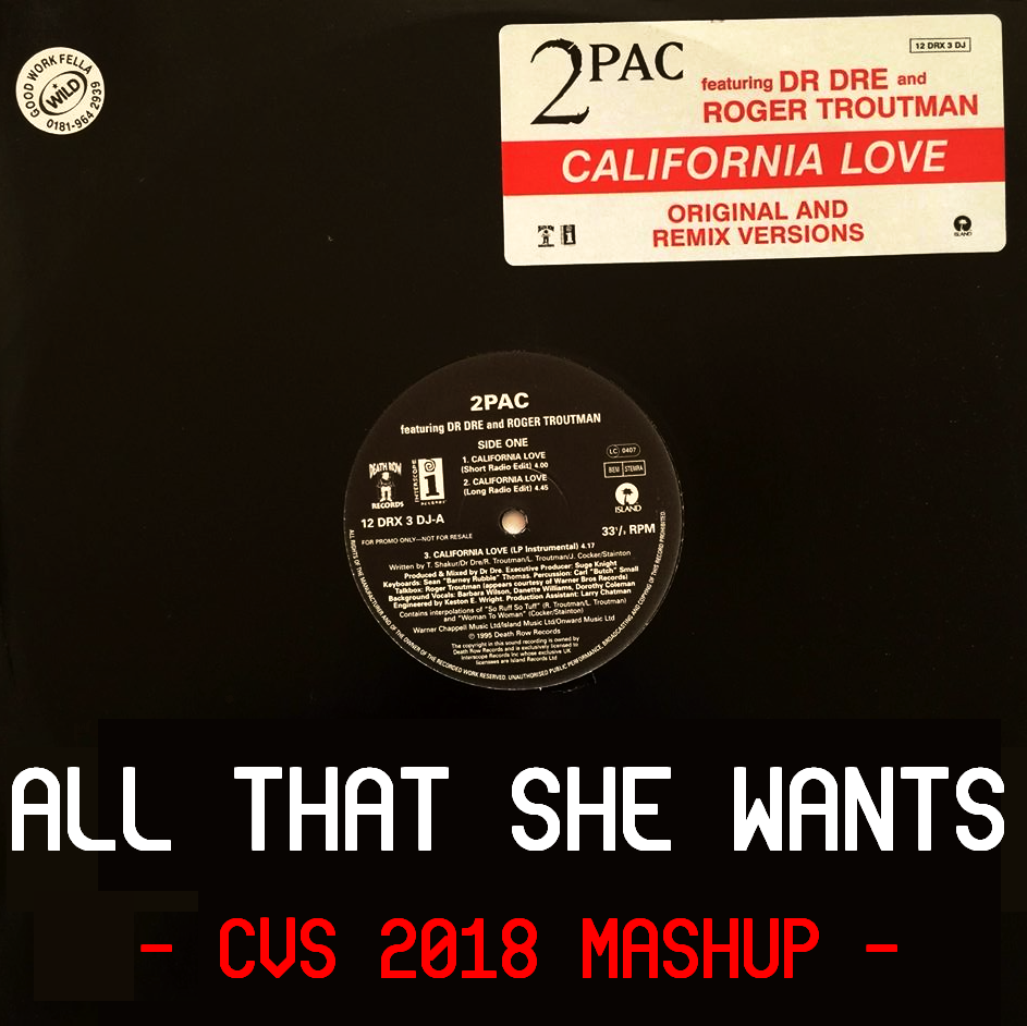 All That She Wants Is California Love (CVS 2018 Mashup) - Tupac + Roger Troutman + Ace of Base