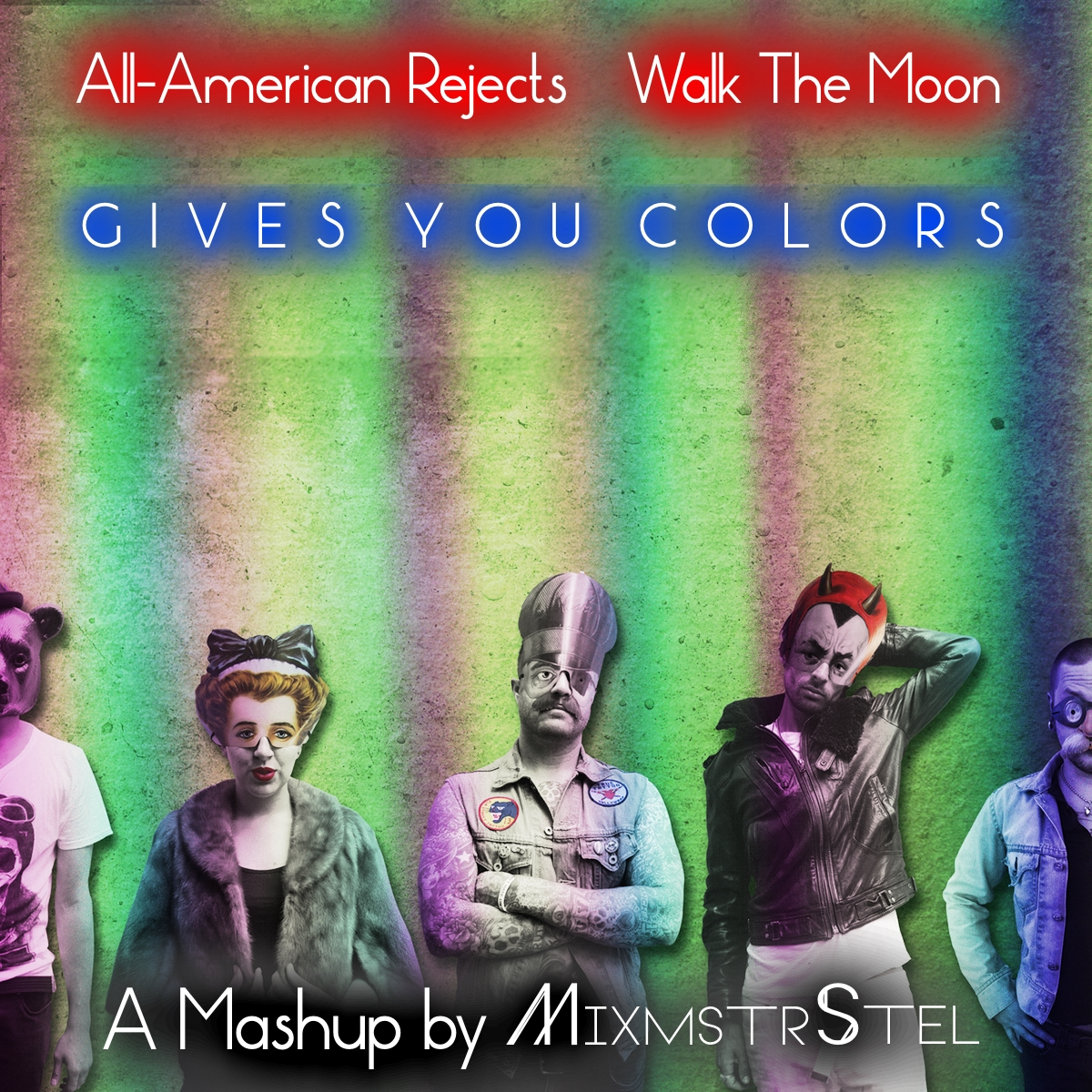 Walk The Moon vs. All American Rejects - Gives You Colors (Mashup by MixmstrStel)