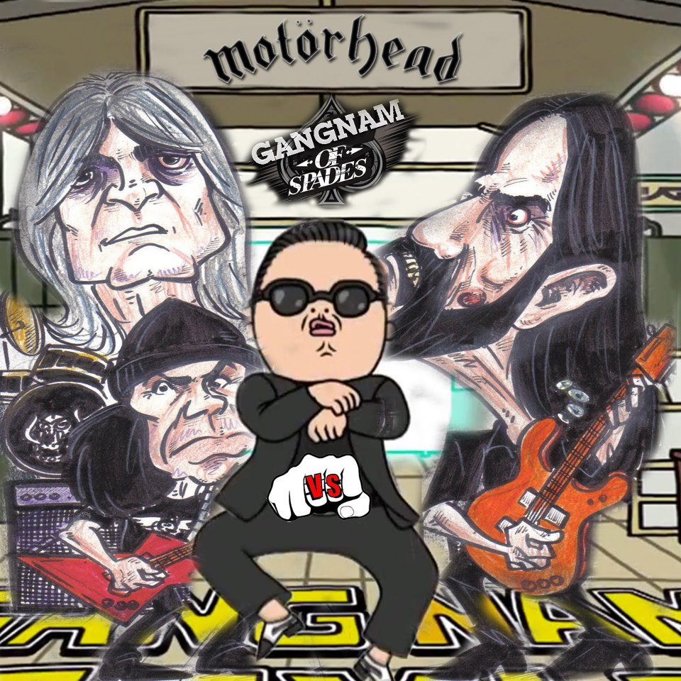 Psy - Gangnam Style (but it's playing Motorhead - Ace Of Spades)