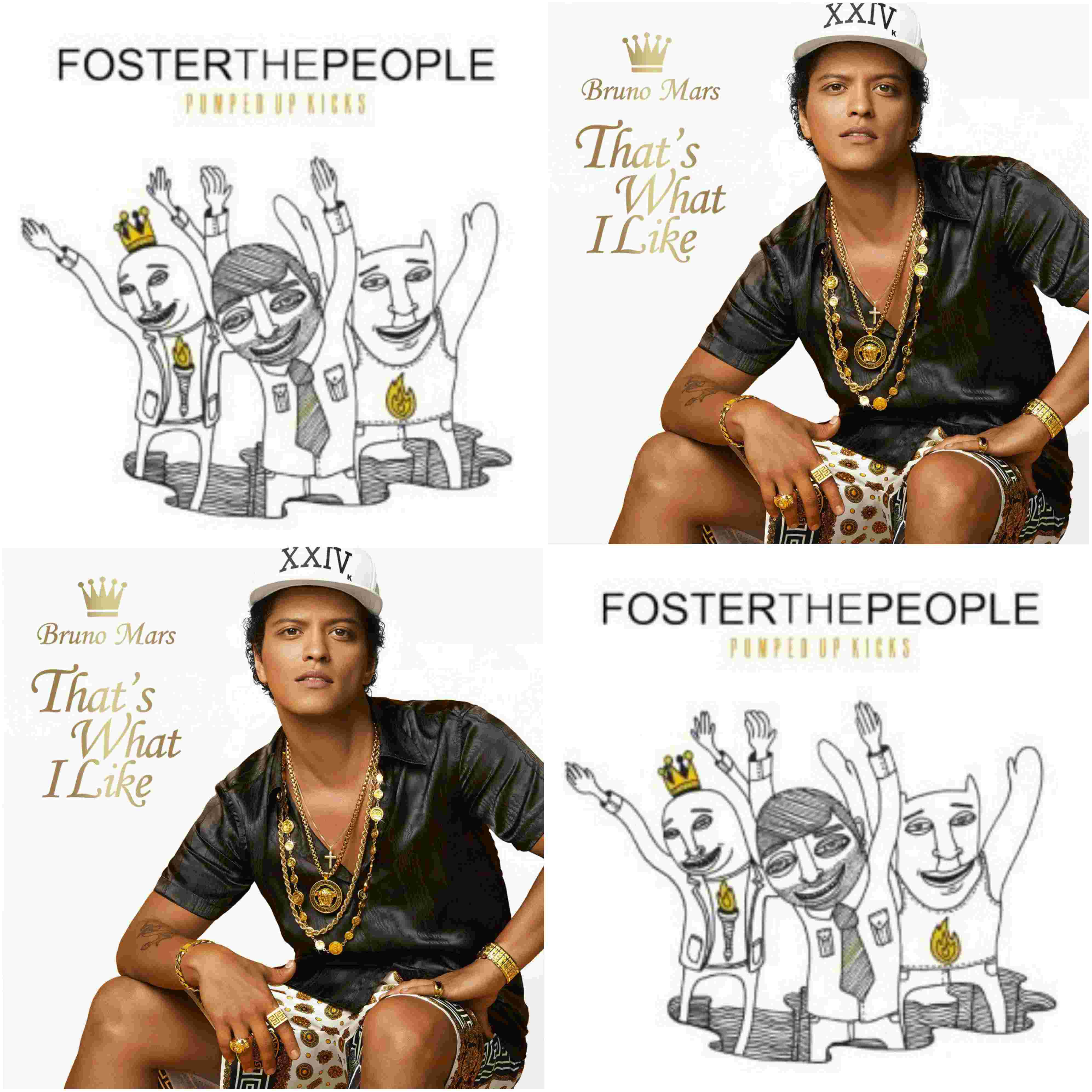 Foster The People Vs Bruno Mars - That's What I Like The Pumped Up Kicks